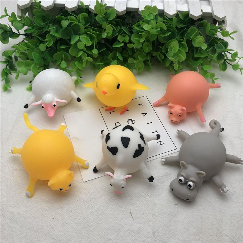 Милые дети животные воздушный шар игрушки Squishys игрушки TPR снятие стресса надувные дети взрослые животные игрушки эластичный воздушный шар Squeeze Ball Best