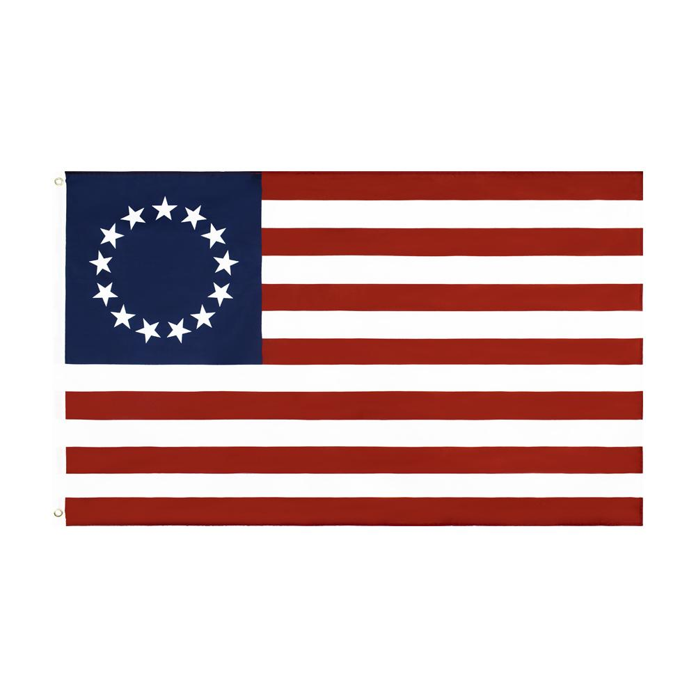 50 pcs wholesale Factory Price double stitched 3x5 fts 13 stars us usa 1777 american Betsy Ross Flag