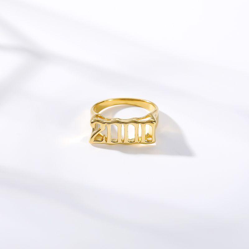 Schmuck Accessoires Old English Ringe für Damen Herren Nummer Jahr 1992 1996 1997 1998 Gold-Silber-Farben-Edelstahl-Ring Modeschmuck