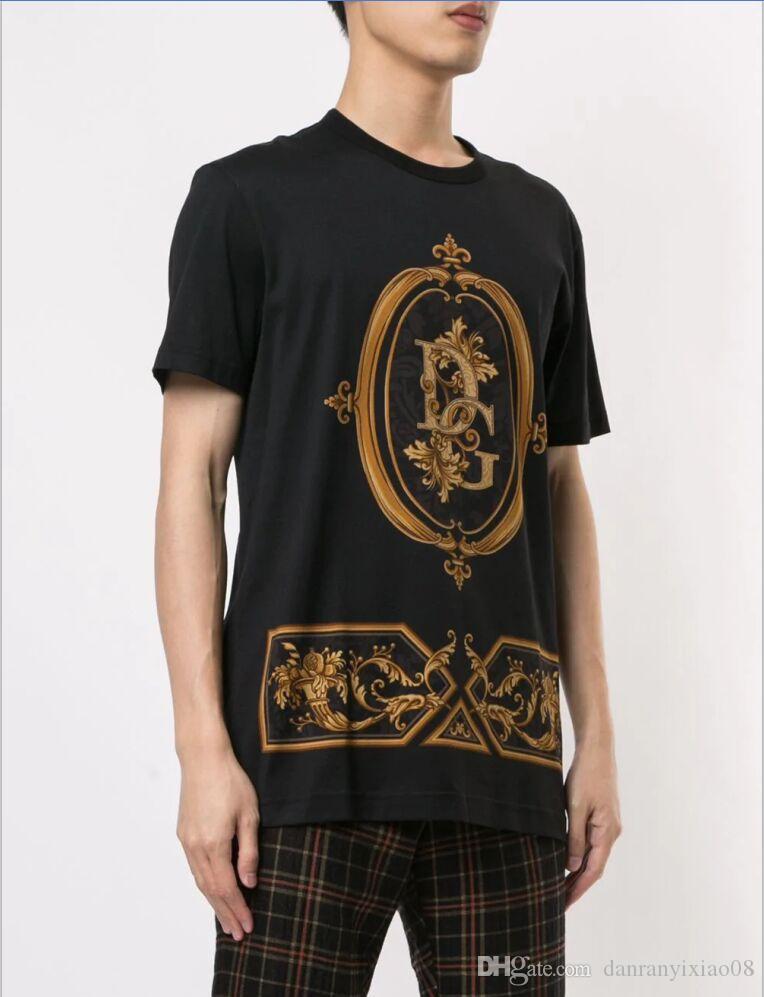 Nuova maglietta di modo lettera geometrica T-shirt stampata uomini e donne del cotone magliette girocollo unisex T-shirt casuale G10 manica corta