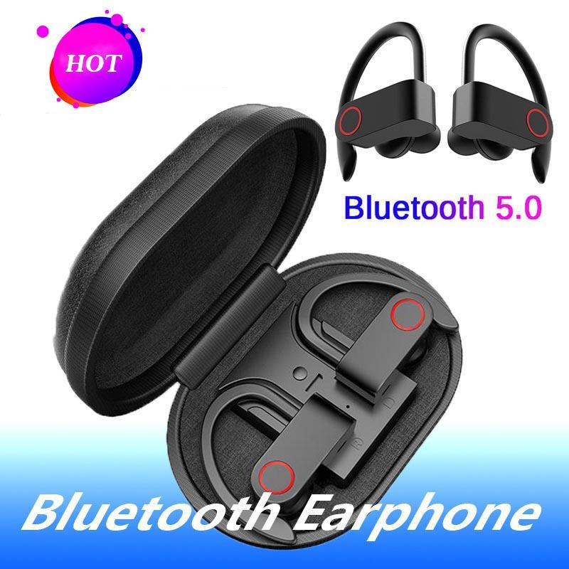 TWS Wireless Headphones Sport Bluetooth 5.0 auricolari Ear Hook Esecuzione Noise Cancelling IPX7 impermeabile stereo auricolari con MIC