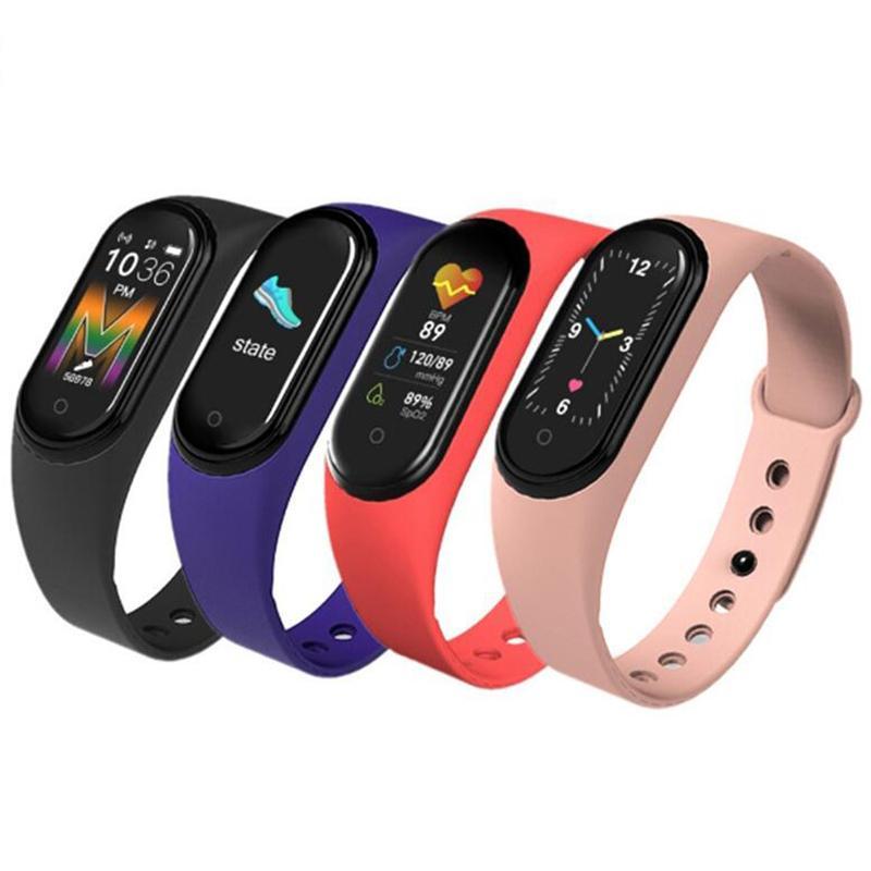 chamada rastreador M5 Esporte Academia Assista Smartband inteligente pulseira colorida Pressão Arterial Tela Heart Rate inteligente banda Pulseira