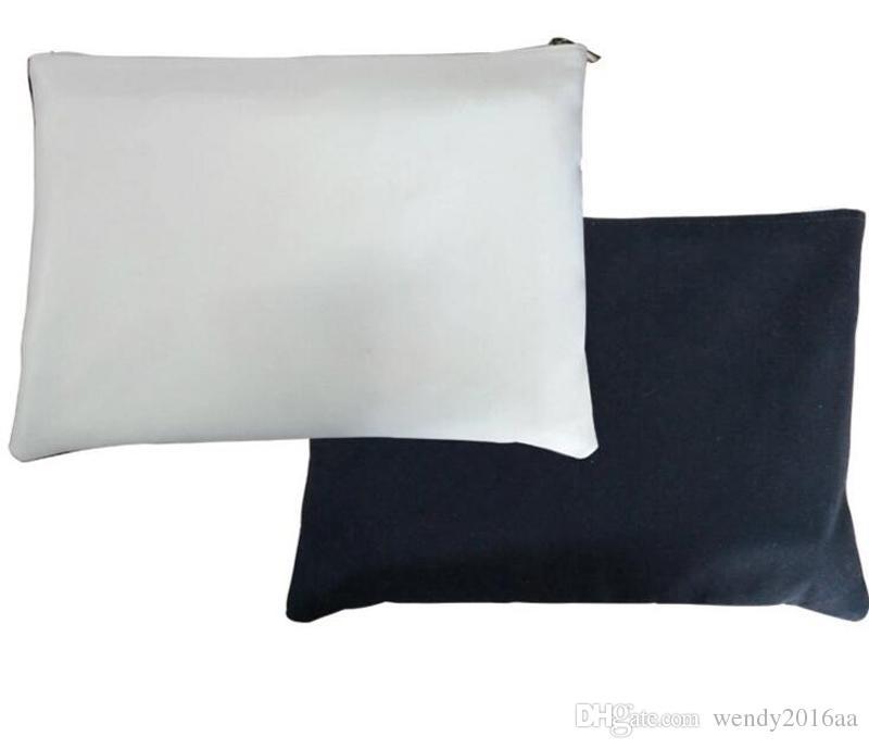 Transferencia 100pcs Bolsa Sublimación con bolsas Maquillaje en blanco Cosmético Impresión de lienzo Impresión SIDS TERMAL SINGLE NEW LLEGADA 3SIZE IRKID OJDWB