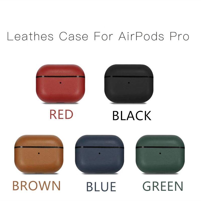 NEW أعلى جودة جلد مصمم حالة الأعمال لشركة آبل Airpods الألوان برو خمسة الاختياري Airpods 3