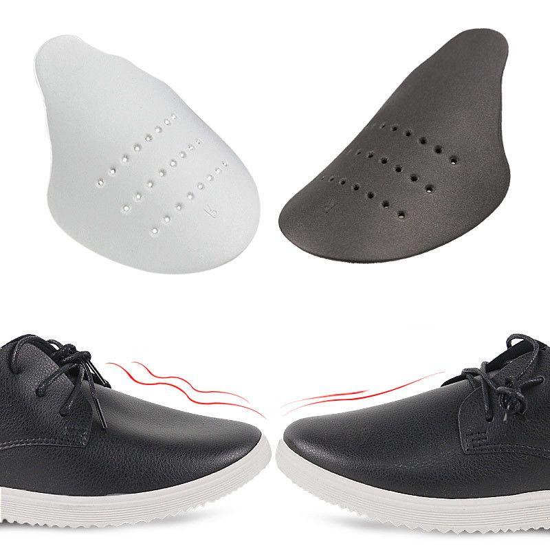أسود الأحذية درع حذاء رياضة مكافحة تجعد تو قبعات حامي نقالة المتوسع المشكل دعم الأبيض وسادة الأحذية الملحقات