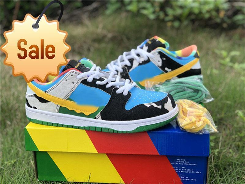 2020 SB Dunk Chunky Dunky Ben Milk Jerry's Ice Cream Skateboard Shoes for Sale Men Women Sport Shoes Size36-47 Latest ss
