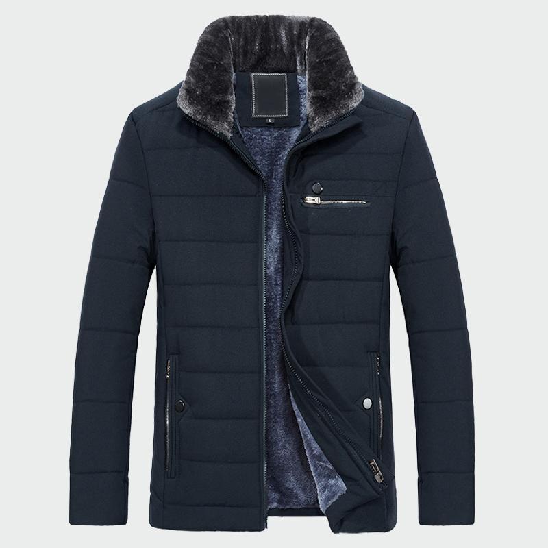 Kürk Yaka 2020 Yeni Stil Kış Erkek Sıcak Coat Kalın Polar Moda Uzun ceketler Erkek Giyim Erkek Palto