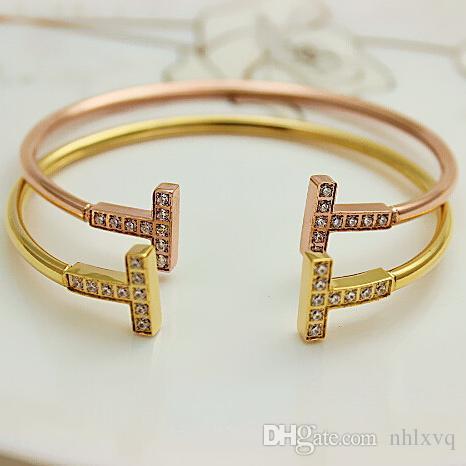 2016 bracelet Bracelet Pour Les Femmes Charme Cristal Belle Amour bracelet pour les femmes pulsera inoxydable Manchette Bracelet De Mode Bijoux Bijoux Cadeau