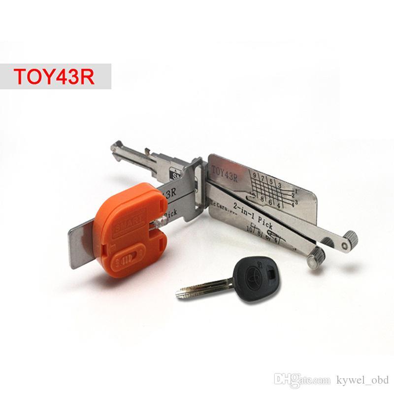 Smart TOY43R 2 en 1 auto pick et décodeur pour Toyota, outil de serrurier livraison gratuite