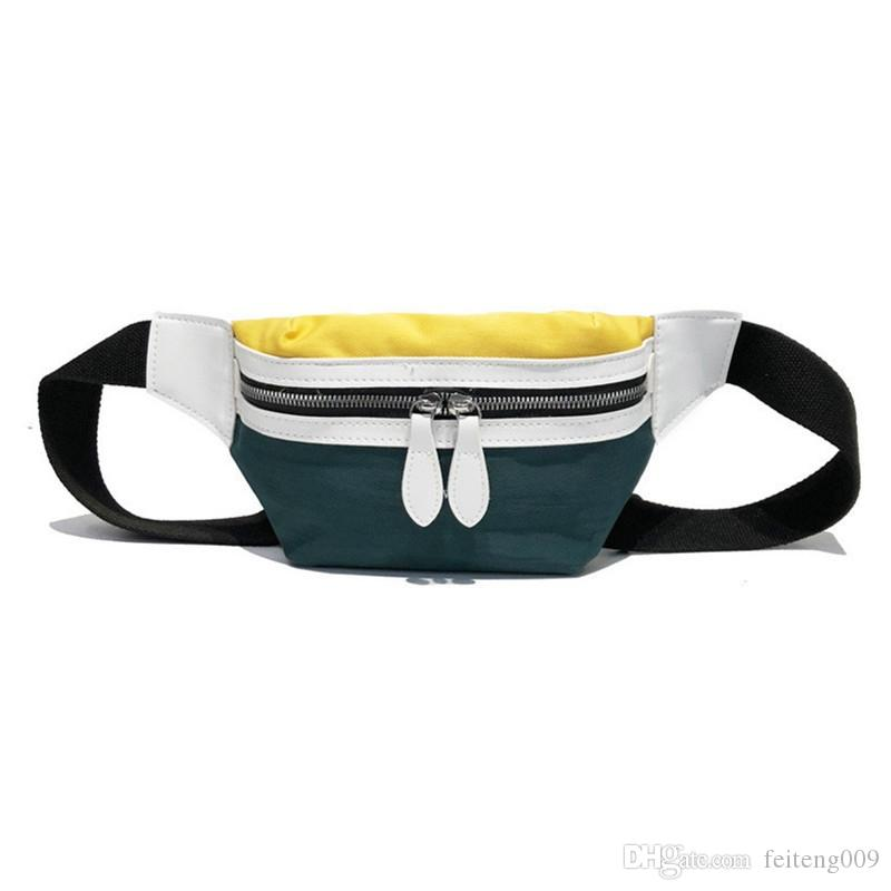 2019 New Canvas Leisure Panelled Fanny Pack For Girls Letter Waist Bag Packs fashion Chest Crossbody bag For Sports Gym Bag #573200