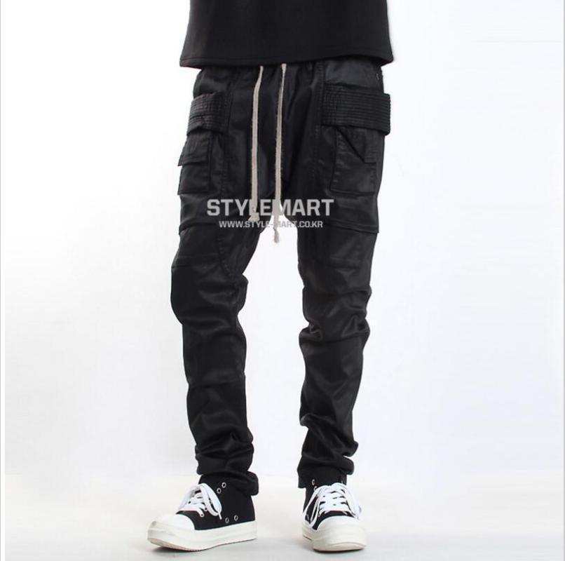 Ropa nueva Moda GD Estilista Minimalista Big Pocket Harem Pantalones Pantalones Pantalones Tallas grandes Cantante Trajes