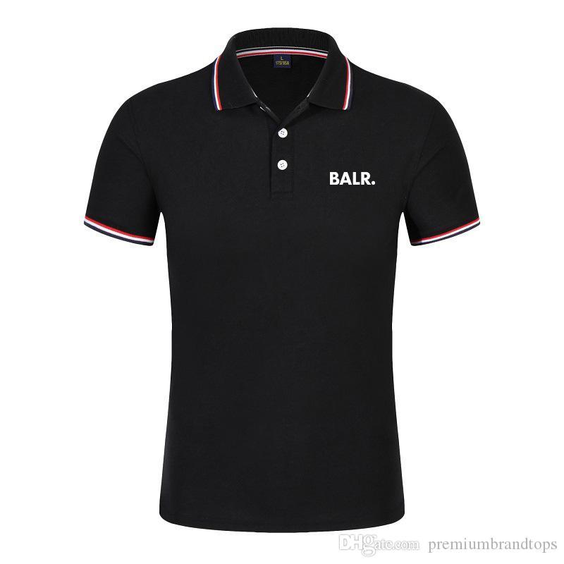 Luxo POLO homens T-shirts Balr marca maré rua de manga curta em torno do pescoço solto de manga curta de algodão dos homens personalidade T-shir