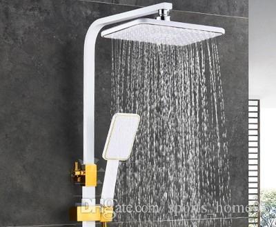 Lusso doccia a pioggia soffione doccia sistemi ad incasso LED Massaggi Cascata Rubinetti 4 pollici Corpo Spray Jets per il bagno doccia Set