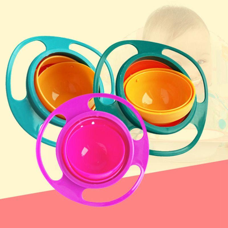Bol dAlimentation en Forme de UFO en 360 Rotation Enfants