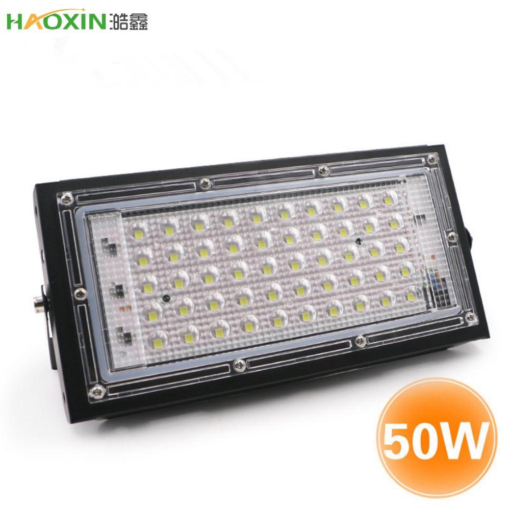 HaoXin للماء IP65 LED ضوء الفيضانات 50W AC110V 220V أضواء في الهواء الطلق حديقة الإضاءة أدى العاكس المصبوب الأضواء الكاشفة الخفيفة