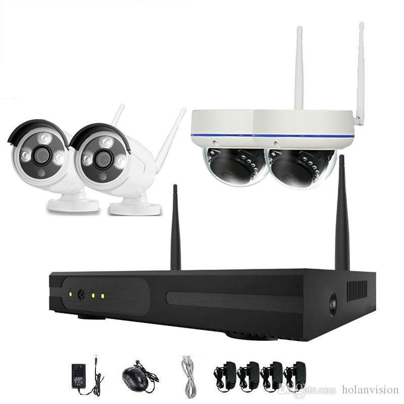 4PCS 4CH الأمن نظام لاسلكي واي فاي كاميرا كاميرا كيت NVR 720P للرؤية الليلية IR-قص CCTV أنظمة مراقبة للماء