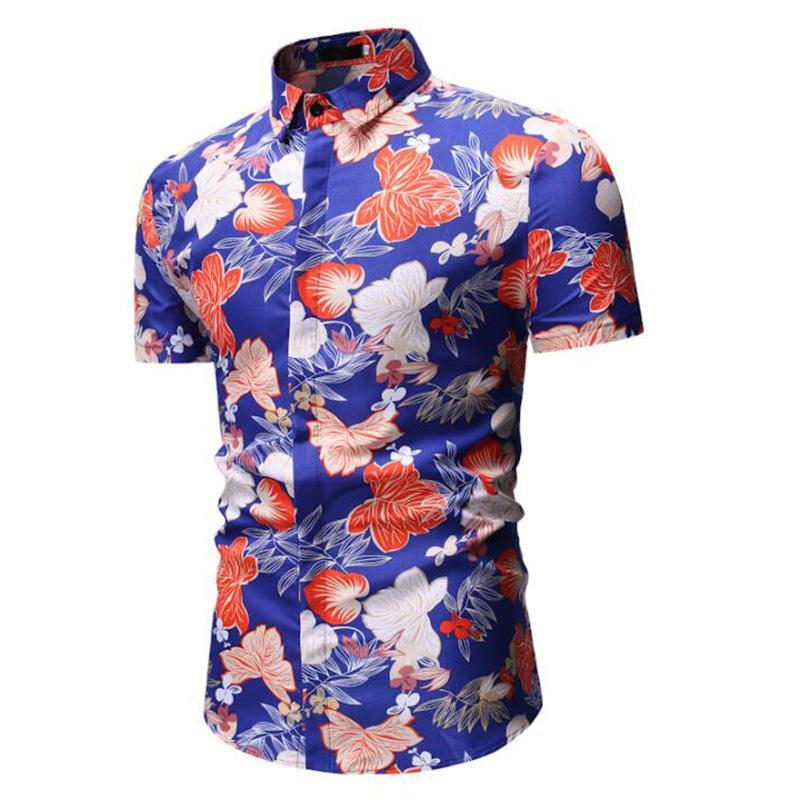 MODA VELOCE soie chemises hawaïennes pour les hommes Shirts pour hommes en coton à manches courtes hommes Tendances