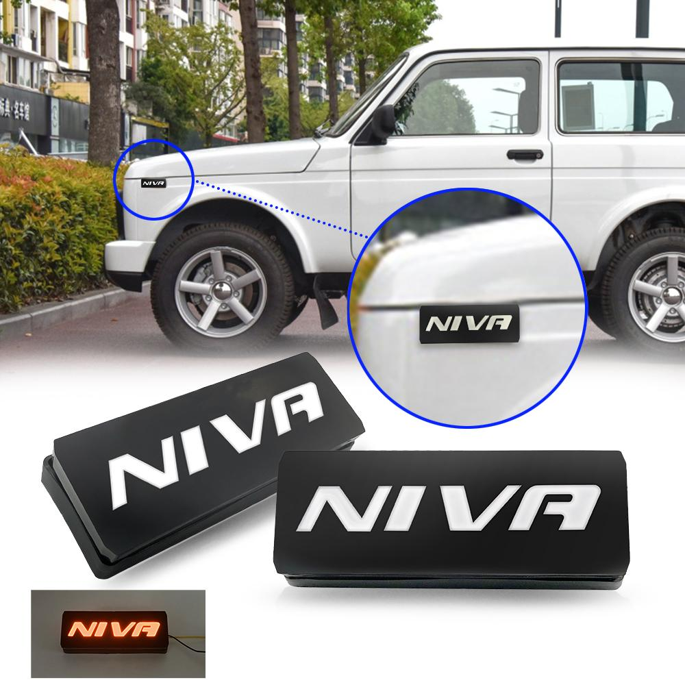 car accessories 2x LED Side Marker Lights For Lada Niva 4X4 1995- Lamp Amber Waterproof
