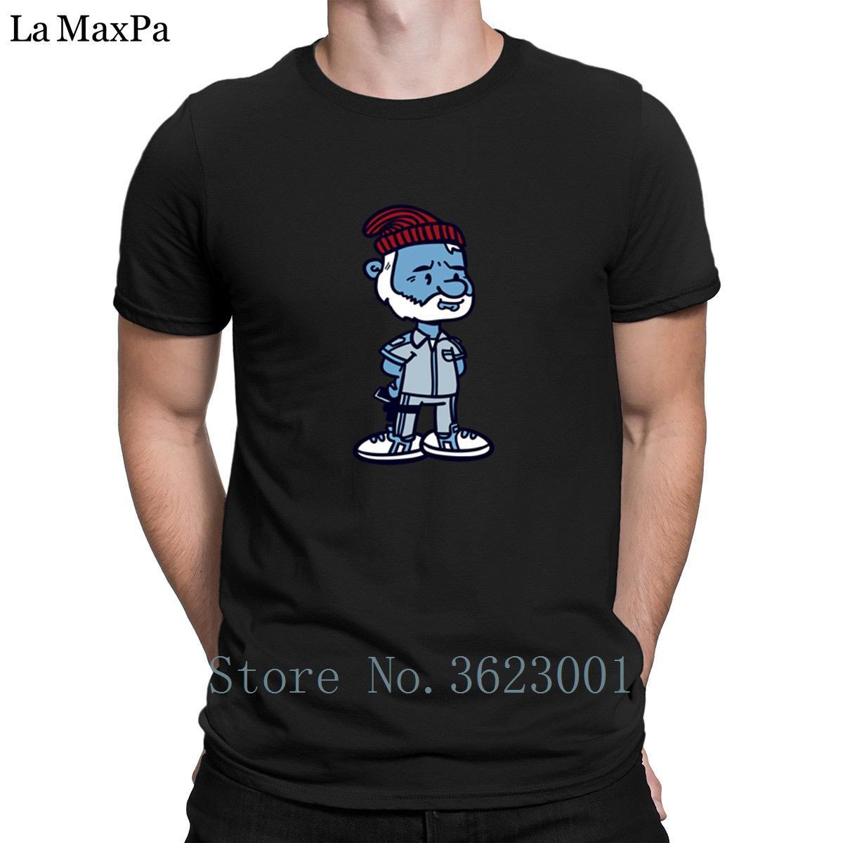 Cartas diseños camiseta para hombres Papá Zissou Camiseta Niza hombres impresionantes de la tapa de la camiseta camiseta de la camiseta tamaño de un hombre estilo euro verano