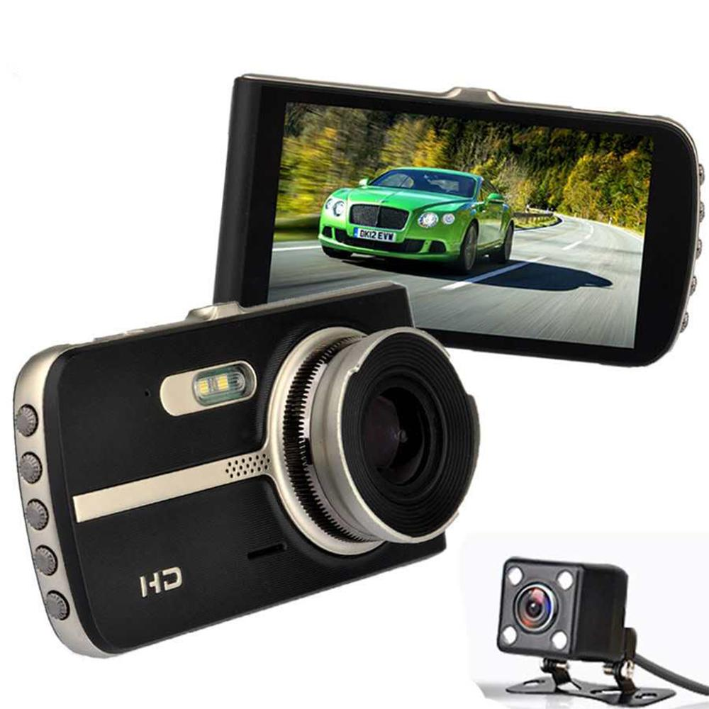 Auto 4Inch Dash Cam Car DVR High Definition 1080P Tachograph Camera Recorder Double Cameras Reversing Images All-in-one Camera 5