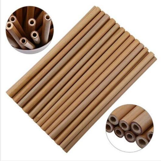 Reusable Bamboo Straw Natural Wood Straws Organic Bamboo Drinking Straws For Party Birthday Wedding Bar Tool LXL176Q