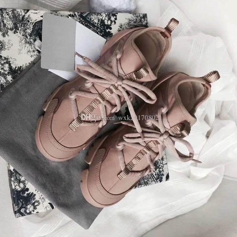 Nouveau Chaussures Saison Designer Mode Femmes Chaussures en cuir à lacets extra-grande plateforme unique Chaussures Blanc Noir Chaussures Casual