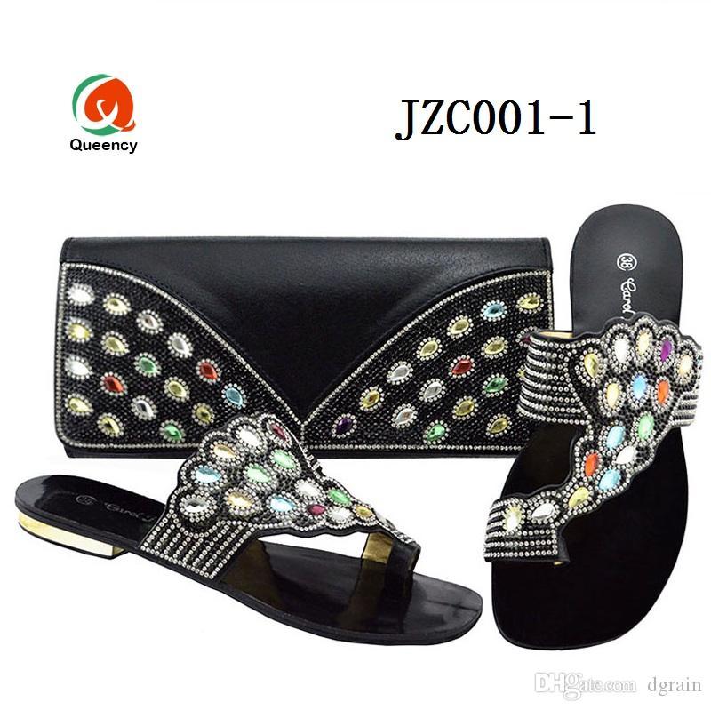 Dgrain Alta Qualidade Moda Por Atacado Senhora Noite Sapatos E Bolsas Definir Estilo Africano com strass