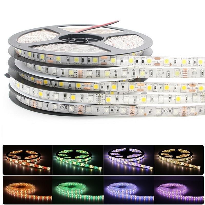 5050 RGB светодиодные ленты водонепроницаемый 5M 300LED DC 12V RGBW RGBWW светодиодные полоски Гибкий Неон лента закрытый открытый Домашнее освещение