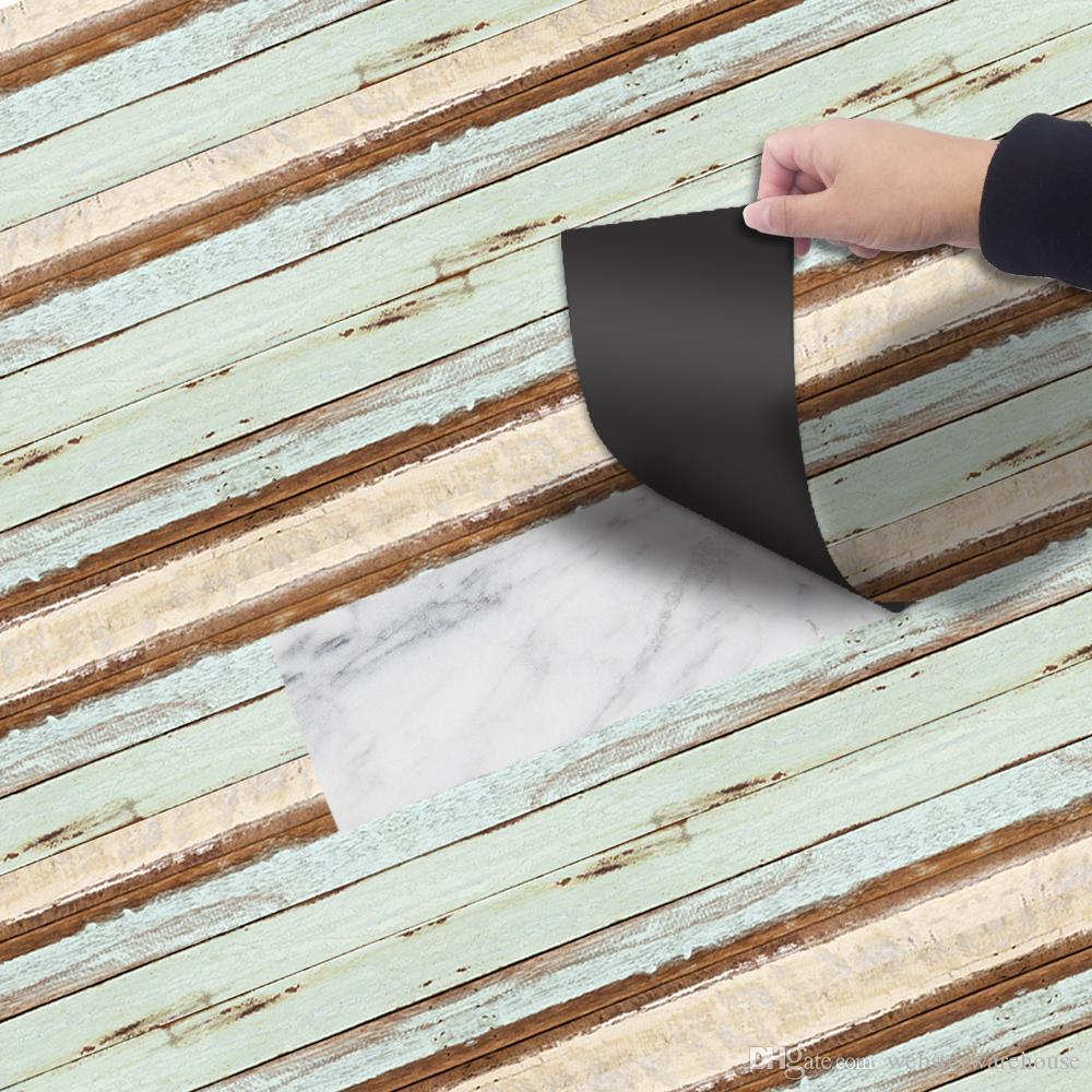 Vinyle Adhésif Pour Sol acheter auto adhésif Étanche autocollant de décoration de maison rénovation  de sol papier peint murale salon chambre pvc autocollant carrelage de