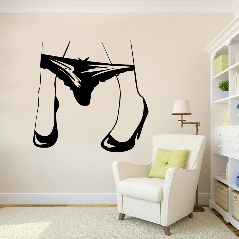 Sexy Womens Panties Creative Wall Stickers Wall Decal For Bedroom Living Room Home Decoration Detachable Wall Decor Wall Decals Design Wall Decals Designs From Joystickers 13 57 Dhgate Com