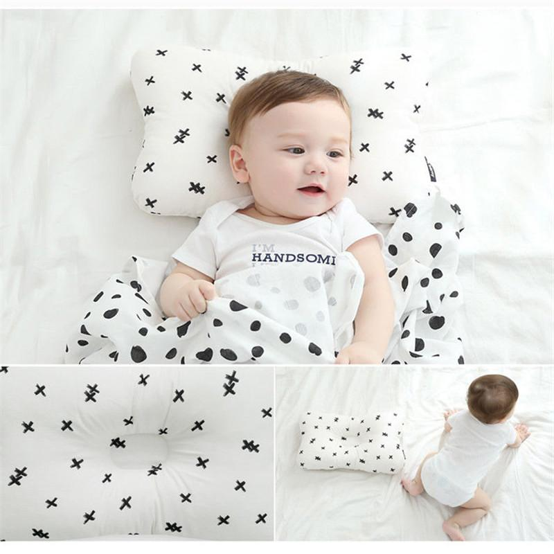 Newborn Baby Infant Cotton Pillow New Printed Positioner Prevent Flat Head Pillows Fashionable Anti Roll Soft Weeping Willow Hot