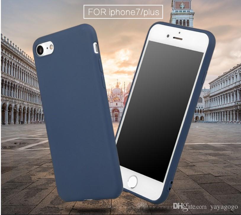 Veloce spedizione Per iPhoneXSmax Custodia morbida per Apple iPhone X 8 7 6S Plus Custodia morbida per TPU super sottile Custodia anti caduta per telefono