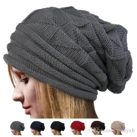 Winterhüte für Damen-Hut Wolle stricken Mützen beiläufiger Normal Caps Winterhüte für Frauen Hüte Strickmütze Wärmen