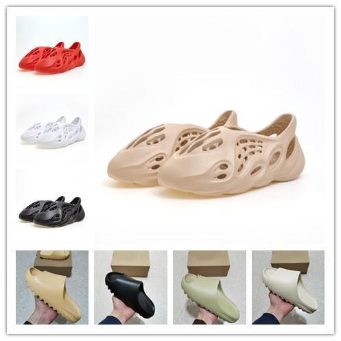 2020 Knochen-Männer Luxus-Designer-Hausschuhe Foam Läufer kanye west Desert Sand Harz Strand Frauen Männer Slides Pantoffel Sandale Sandalen 36-45
