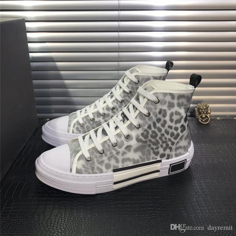 2020 B23 Oblique Haut Baskets basses Obliques Technique Cuir 19SS Fleurs techniques de plein air Chaussures Casual Cuir technique Chaussures de luxe
