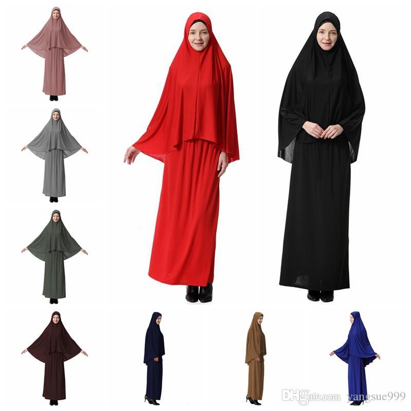 Арабские ближневосточные мусульманские женщины халат платье Исламские платья макси Полное покрытие сплошной одежды хиджаб