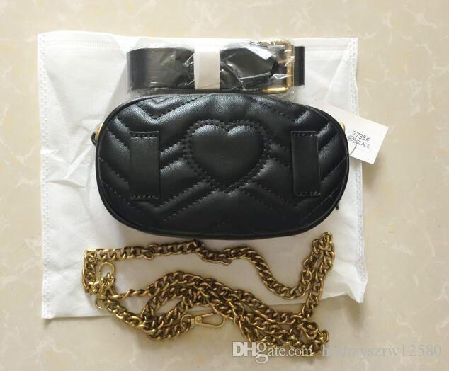 Marmont Bolsos de cintura alta calidad Bolsos de la cintura Diseñador Marmont Bolso de la cintura Fanny Paquetes Bolsos de cinturón de señora Famoso Handba de las mujeres