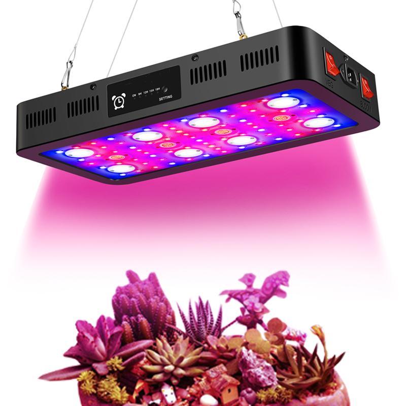 2400W تحكم الموقت LED تنمو الاضواء، كامل الطيف LED نمو الخفيفة مع الخضار وBLOOM مفاتيح للنباتات في مراحل النمو المختلفة