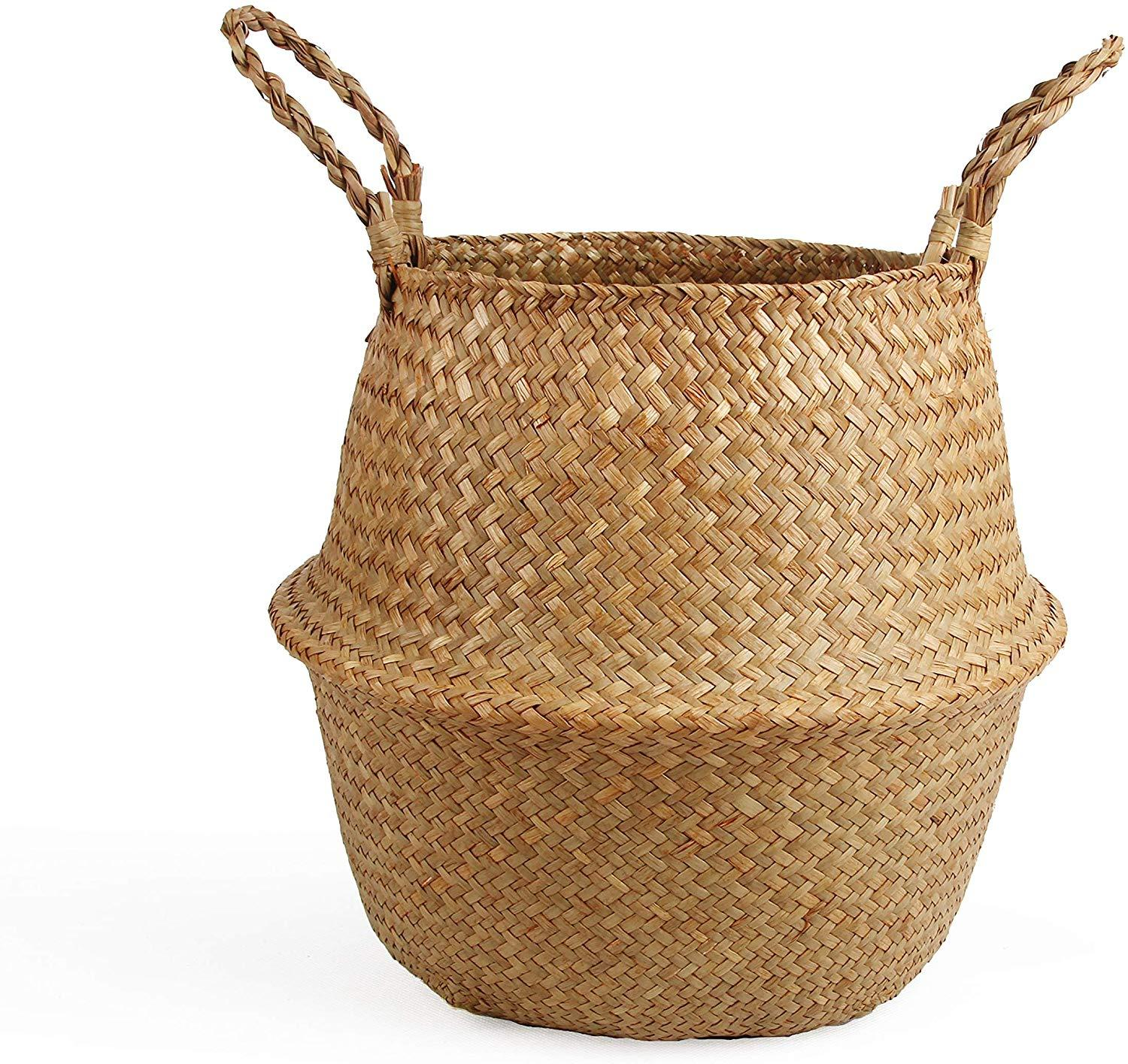 small oval willow basket for gift giving storage.htm 2020 woven seagrass belly basket for storage plant pot basket  woven seagrass belly basket for storage