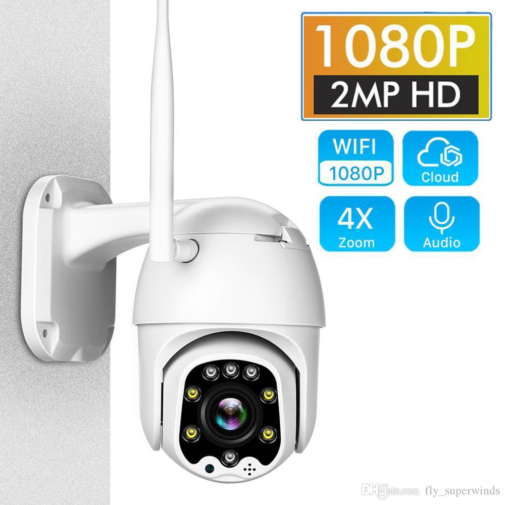 4 배 디지털 줌 IP 카메라 와이파이 2MP 1080P 무선 PTZ 스피드 돔 CCTV IR ONVIF 카메라 야외 보안 감시 IPCAM 카마라 외관
