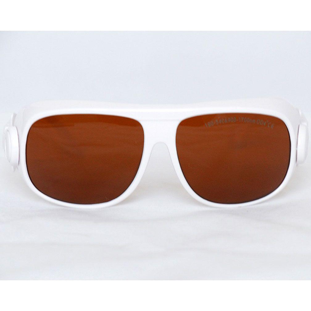 Vidros largos da proteção da segurança do espectro, 200-540900-1700nm Óculos de proteção protetores do laser, absorção contínua para o uso do operador do salão de beleza