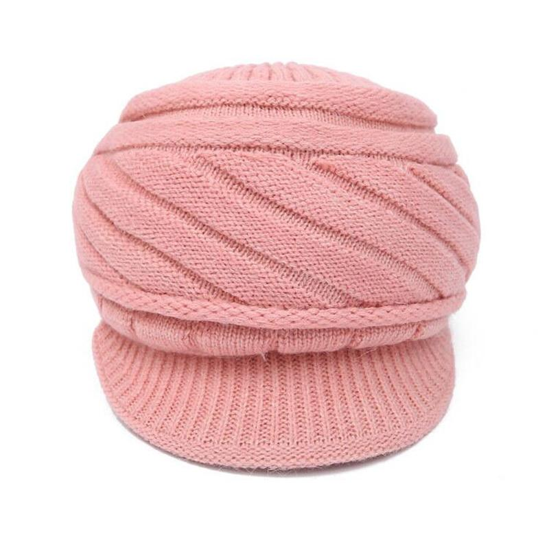 Women's Winter Hat And Cashmere Rabbit Hair Knitted Cap Knitting Wool BERET Wholesale Fashion Squaren warm hat for girls