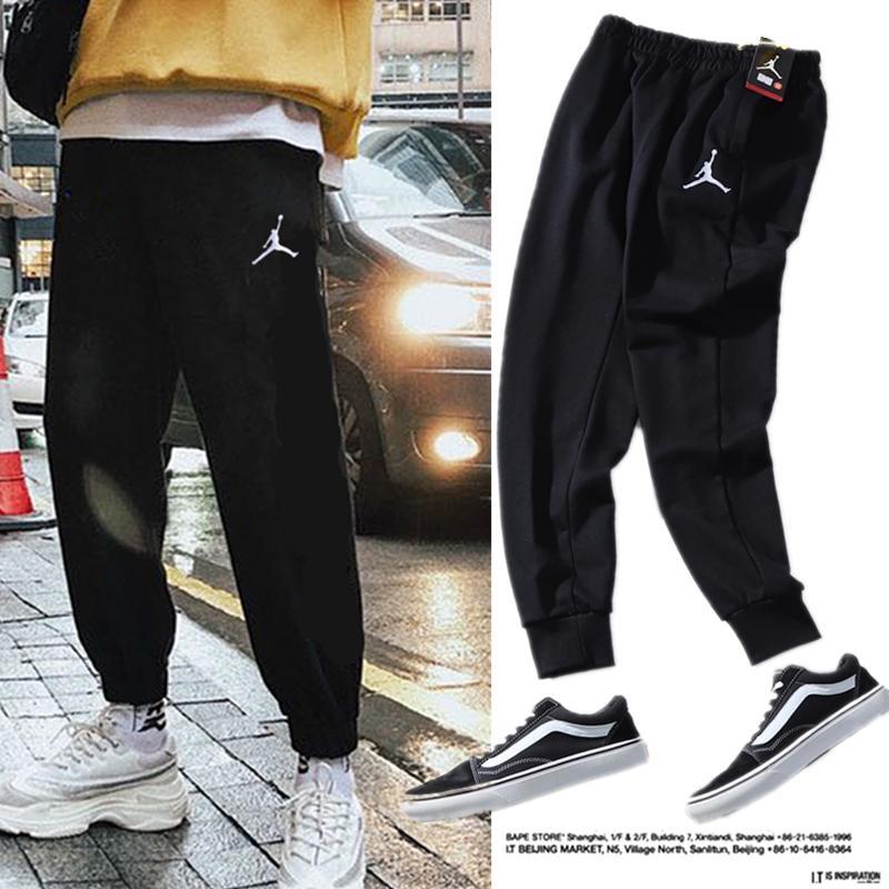 2020 / JD diseñador de los hombres pantalones deportivos de invierno nueva pantalones de gran tamaño de deportes de algodón transpirable cómodos pantalones de deporte clásica de la manera ocasional América
