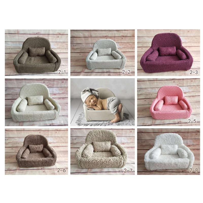Flokati Newborn Photography Props Mini Posing Sofa For Studio Baby Photography Accessories Baby Photo Props Soft Posing Beans J190517