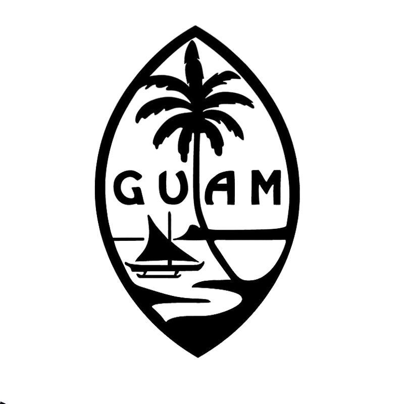 16 * 9.9cm Guam Adası Seal - Chamorro Chamoru Yerli Araba Aksesuarları Motosiklet Kaskı Araç Şekillendirme