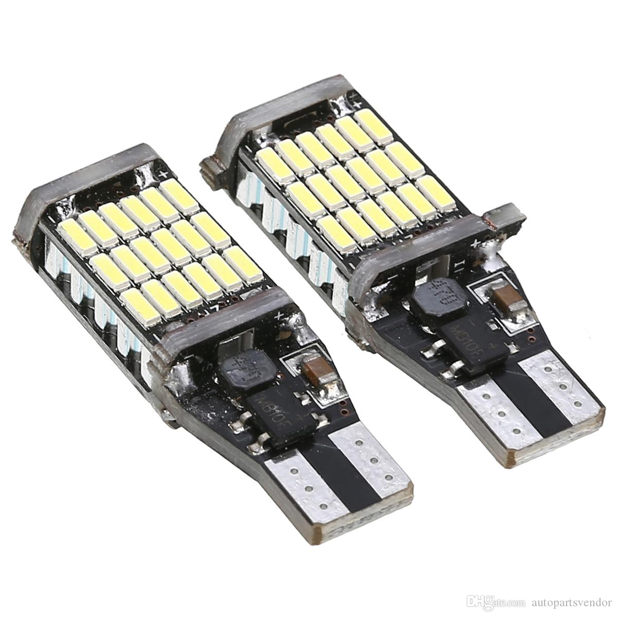 10 Ad T15 T16 W16W LED Ters Ampul 920 921 912 CanBus 4014 45SMD Vurgu LED Yedekleme Park Işık Lambası Ampüller DC12V