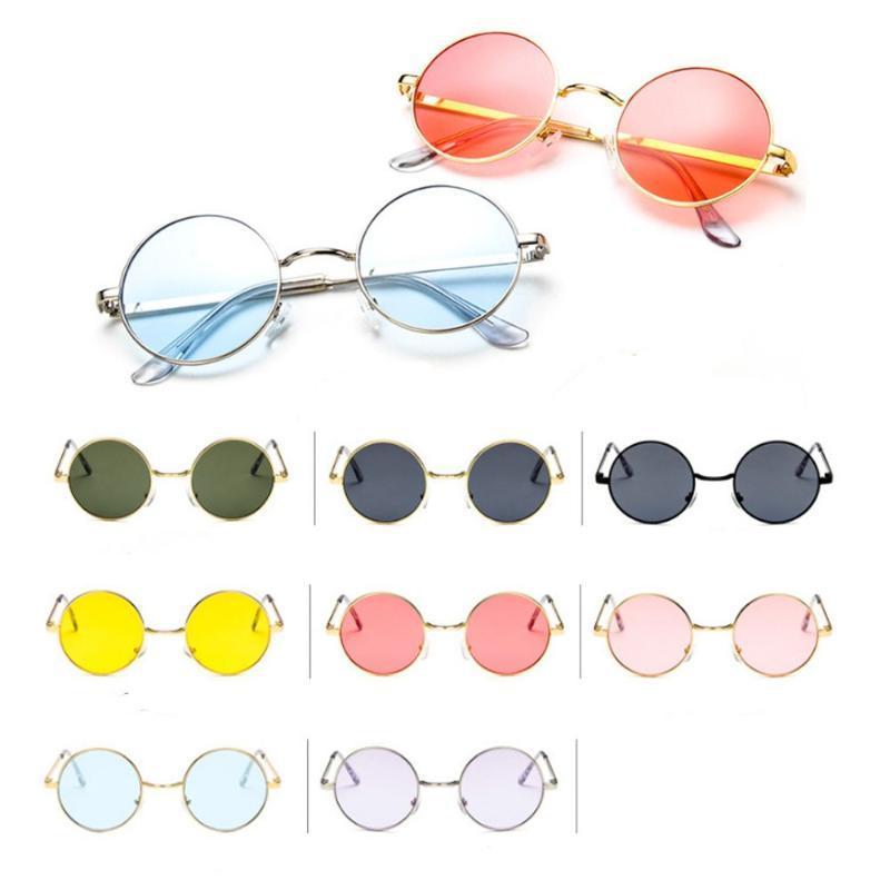 Donne cornice specchio cerchio metallo colore obiettivo occhiali da sole occhiali da vista occhiali occhiali occhiali occhiali occhiali rotondi femmina dropshipper dropshipper annata moacw