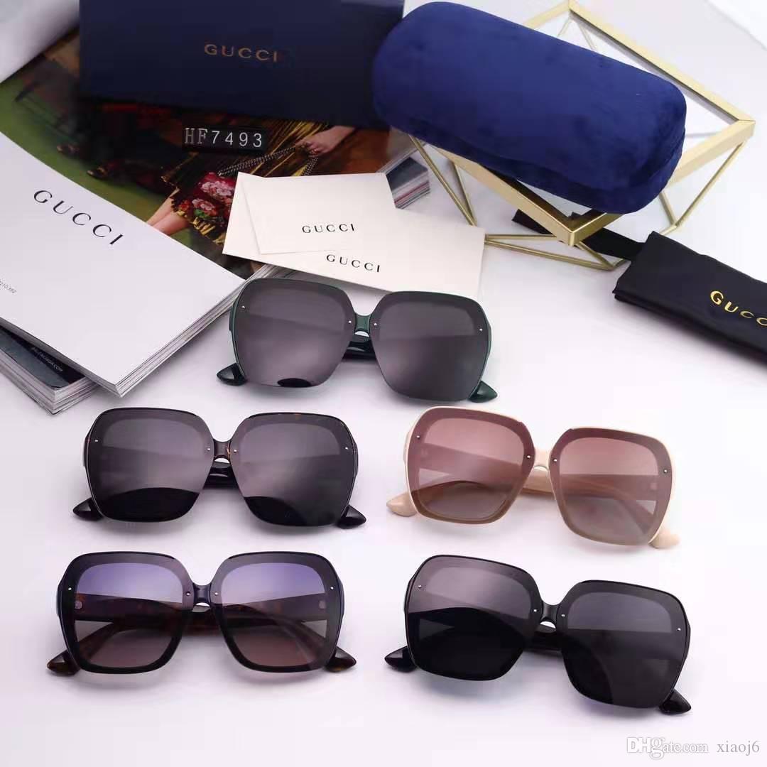luxo óculos de sol óculos de sol quadrados para Mulheres Brand Design 2020 extragrandes Óculos de sol fêmeas forma Vintage Shades UV400
