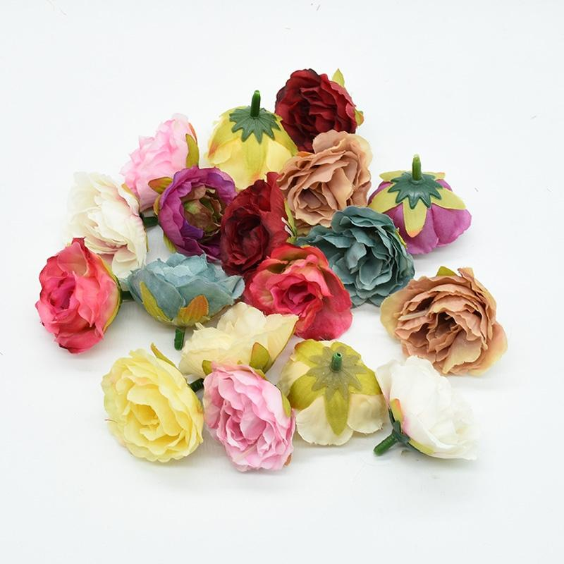 2020 4Cm Artificial Flowers Silk Roses For Christmas ...