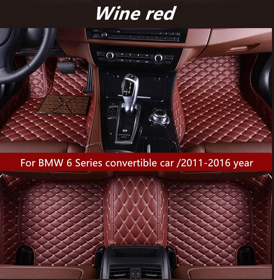Un coche descapotable BMW Serie 6 / 2011-2016 años del interior del coche Foot alfombra antideslizante Protección Ambiental insípido no tóxico alfombra del piso